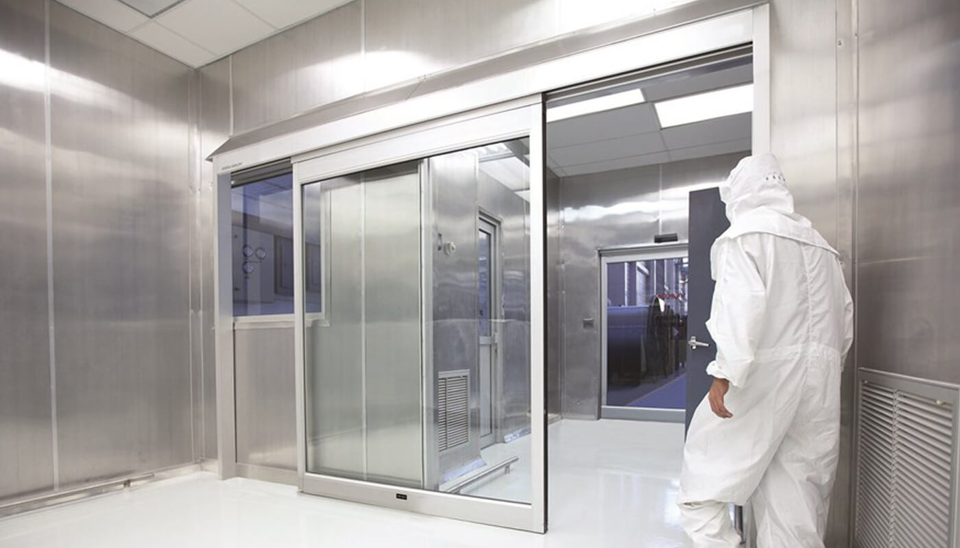 cleanroom sliding glass door