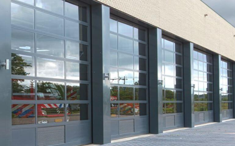 glazed overhead doors